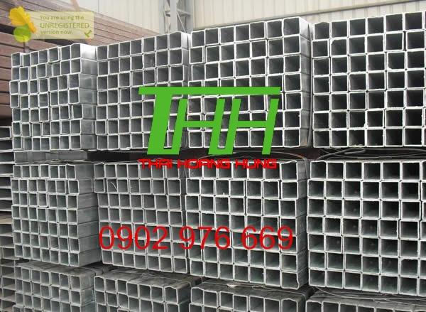 Thép hộp vuông mạ kẽm 80×80